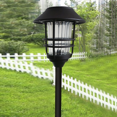Energy Saving 24 Inches High Solar Powered LED Outdoor Garden Stake with Wire Guard