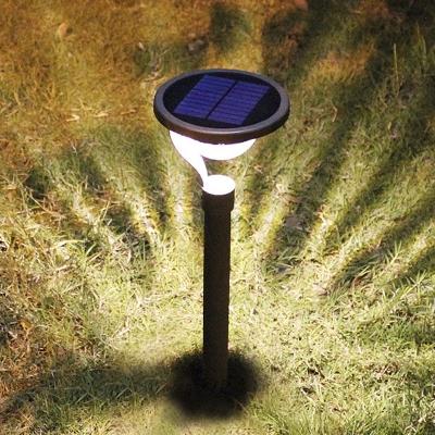 ... Modern 23u0027u0027 H 2 LED Warm Light Solar Powered Landscape Lighting With 2  Installation