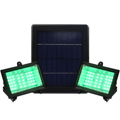 Warm Yellow Light 40 LEDs Dual Head Super Bright Solar Power Outdoor Flood Light