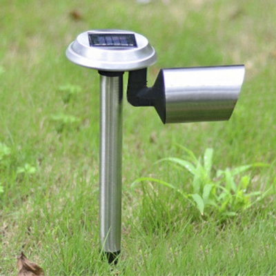 2 Pack 8'' Wide Stainless Steel Solar Powered LED Patio Landscape Lighting