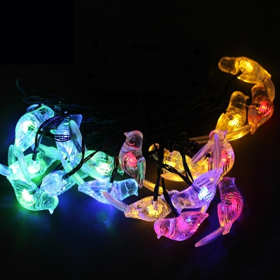 20 Pieces Little Bird 17 Feet Solar Power LED Decorative Solar String Lighting Set