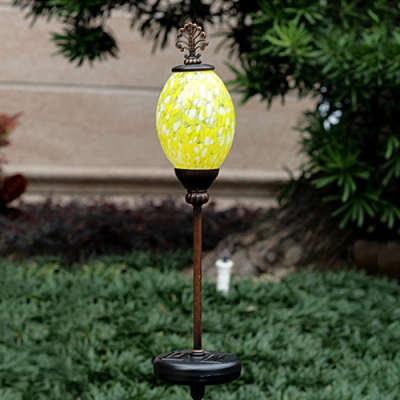 Colorful Solar Powered Pearl Shape Decorative LED Outdoor Garden Stake