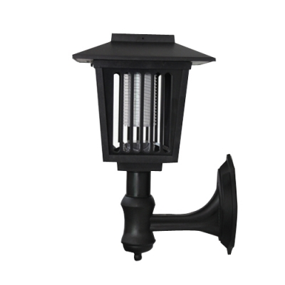 Cheap Mission Style 11'' H Plastic Bug Killer Outdoor Solar Wall Lamp