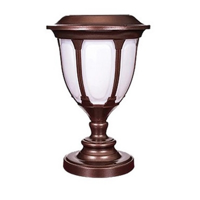 Купить со скидкой Unique Design 14 Inches High Copper Finish Solar 12 LEDs Outdoor Post Lighting