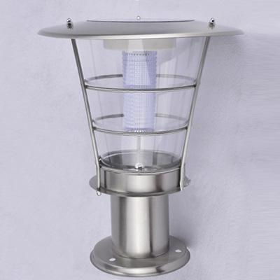 Energy Saving Stainless Steel 12'' H Wireless Solar LED Post Lawn Lighting