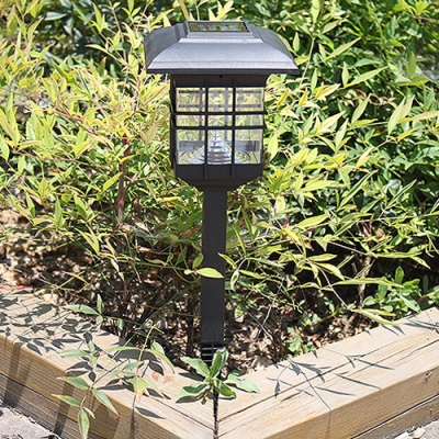 Купить со скидкой 18 Inches High Solar Powered Outdoor Pathway Garden Stake Light with Square Clear Shade