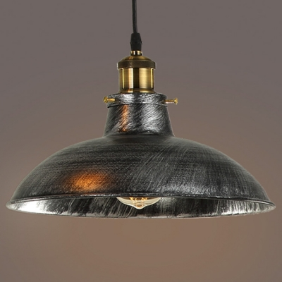 Dome Shade Single Light Wide Barn Style Led Pendant