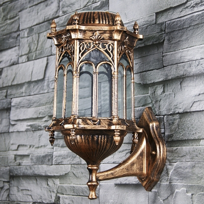 Classic Bronze Vintage Style 15   High Wireless Solar Powered Garden  Outdoor Wall Lamp ... 6b9051c7c