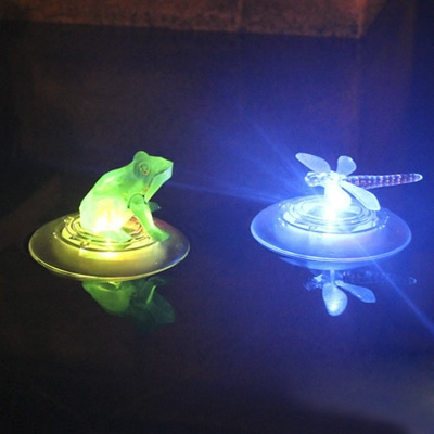 Color Changing 5'' Wide Dragonfly LED Solar Decorative Floating Light