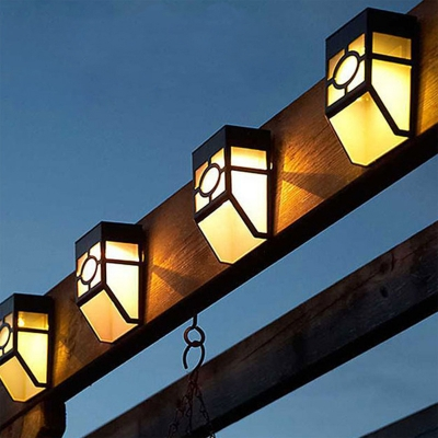 Solar Outdoor Step Lights Fashion style deckstep lights beautifulhalo black abs bright 2 led solar outdoor wallstep light for garden workwithnaturefo
