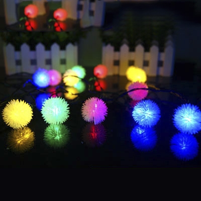 light sensor 23ft 30 leds chuzzle ball solar string lights christmas lights