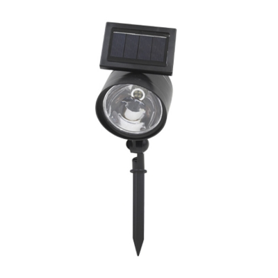 Plastic 4 LED Black Finish Single Head Solar Power Outdoor Spotlight