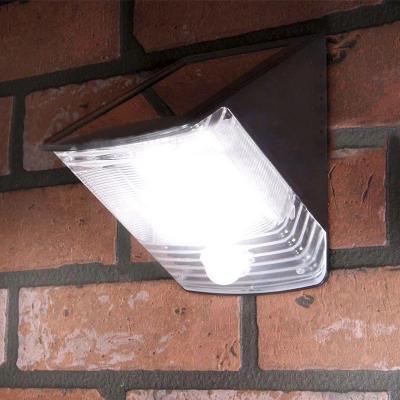 Stainless Steel Base Super Bright LED Solar Motion Sensor Burglary Resistant Wedge Outdoor Step Light