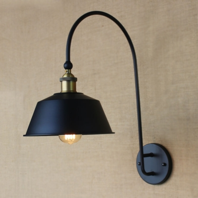 Ten Inches Wide Single Light Pewter Finish Gooseneck Barn LED Wall Sconce