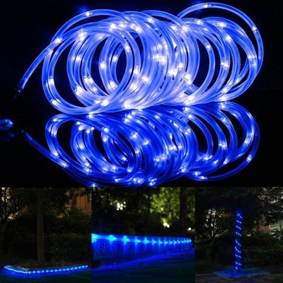 Blue light 50 leds 23 feet solar power decorative rope light for blue light 50 leds 23 feet solar power decorative rope light for christmas aloadofball Gallery