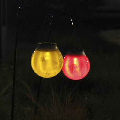 Plastic 1 LED Portable Lantern Solar Powered Decorative Light (More Colors Available)