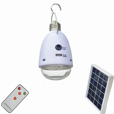 Solar Powered Small Hanging Pendant Led Lighting With Usb