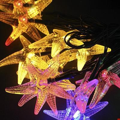 Starfish 20 LEDs 17ft Solar Powered Waterproof Holiday Decorative String Lighting