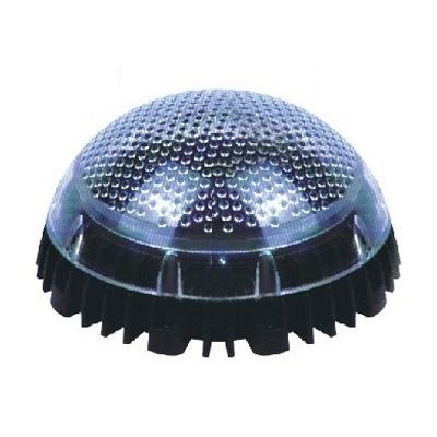 Semi-globe 2 LED Solar Deck Light with Blue Light for Garden