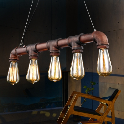 26 wide antique copper 5 light pipe led island light for kitchen 26 wide antique copper 5 light pipe led island light for kitchen workwithnaturefo