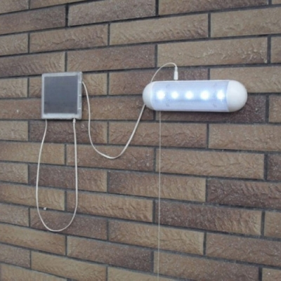 5 LED Small Wall Mount Solar Powered Shed Garage Lighting