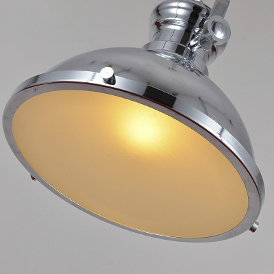 Polished Nickel 12'' Wide One Light LED Pendant in Industrial Style