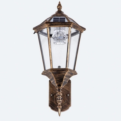 Antique Bronze Super Bright 20'' H Solar LED Outdoor Wall Lantern