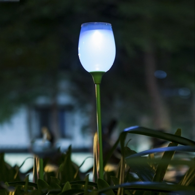 Beautiful 1 LED Decorative Solar Powered Low Voltage Garden Stake