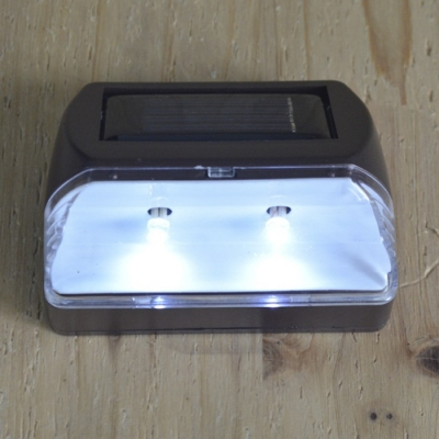 Plastic 2 LED Solar Step Light