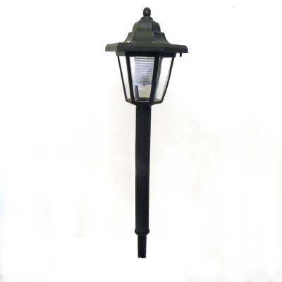 Set of 2 Black Solar Powered Dusk to Dawn LED Pathway Lighting