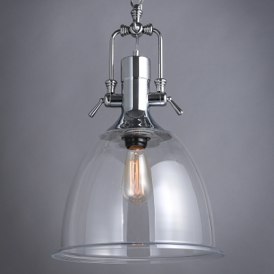 chrome ball pendant light uk inches wide clear glass bowl shape finish large kitchen lights industrial fixture
