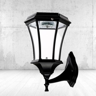 Stylish Black Finish 21'' H Large Cheap LED Solar Landscape Outdoor Wall Light