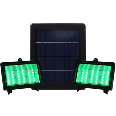 Super Bright 30 LEDs 6V Dual Head Solar Powered Cool White Flood Light