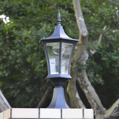 18 h black aluminum vintage style post garden light with 18 h black aluminum vintage style post garden light with rechargeable battery mozeypictures Image collections