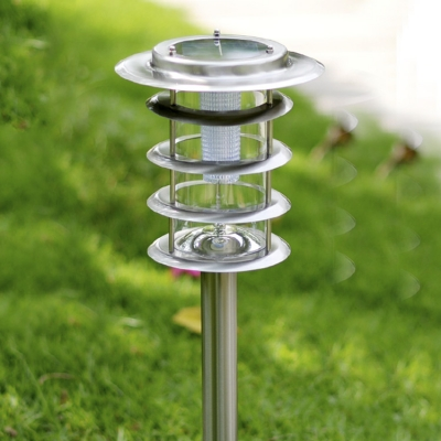 33'' H Simple Modern 5 Layer Stainless Steel Super Bright Solar LED Pathway Lighting