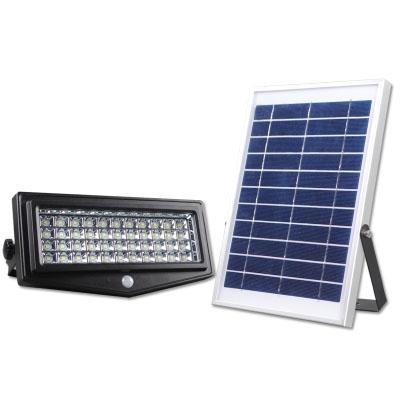 44 LEDs Super Bright Solar Powered Flood Light Wall Mount Security Light