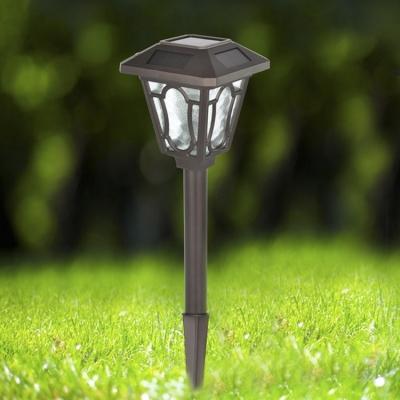 charming chocolate finish h solar powered large garden lantern pathway lighting - Solar Powered Lanterns