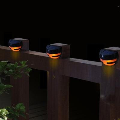Set of 4 Plastic Semi-globe 2 LED Solar Power Step Light