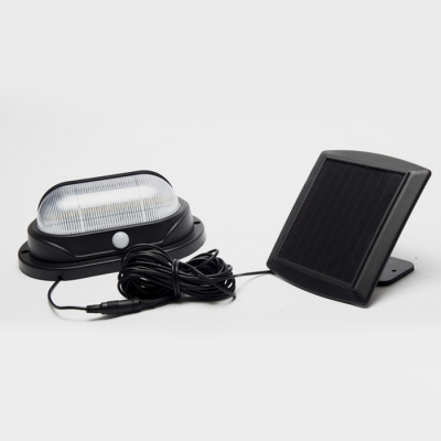 Image of 10-LED Solar Motion Sensor Super Bright Waterproof Outdoor Step Light with a Solar Panel