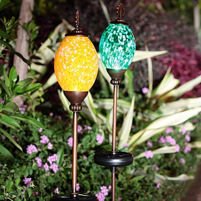 Colorful Solar Powered Pearl Shape Decorative LED Outdoor Garden