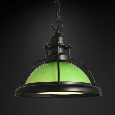 Fashion style pendant lights green industrial lighting 1 light full sized led pendant in green aloadofball Choice Image
