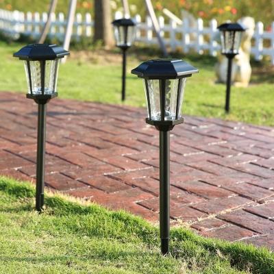 25 H Large Outdoor Solar Led Pathway Landscape Lights In Black