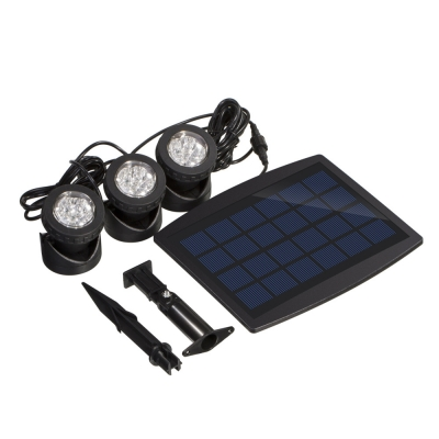 3 Light Cool White 6 LEDs Solar Powered Outdoor Garden Patio Landscape Lighting