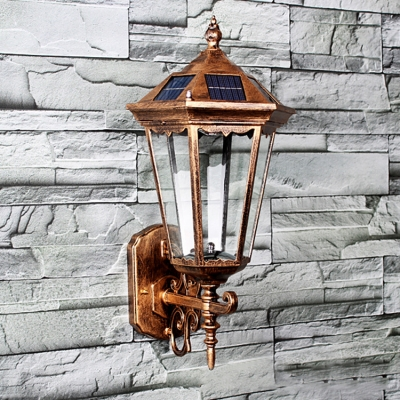 Vintage Outdoor Wall Lights Vintage style 17 h light sensor solar powered led outdoor wall vintage style 17 h light sensor solar powered led outdoor wall lighting workwithnaturefo