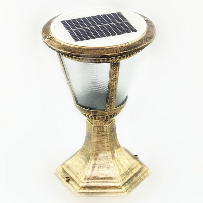 13 Inches High Weatherproof Solar Powered LED Outdoor Garden Post Lighting