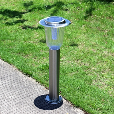 Weatherproof Stainless Steel 24'' H Solar Powered Landscape Lighting for Outdoor