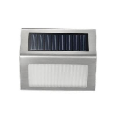 3 LED Bulbs Stainless Steel Waterproof Solar Step Lighting