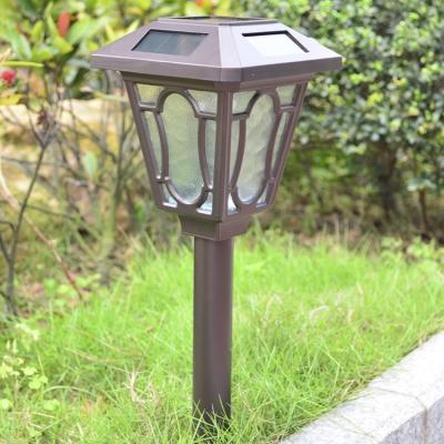 Charming Chocolate Finish 24'' H Solar Powered Large Garden Lantern Pathway Lighting