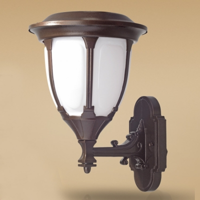 13 Inches High Modern Style Smart Motion Sensor Solar LED Garden Patio Wall Lamp