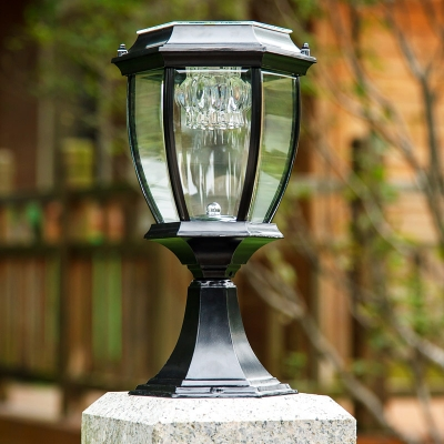 Graceful Black 14 H Small Solar Led Post Light Garden Lighting Beautifulhalo